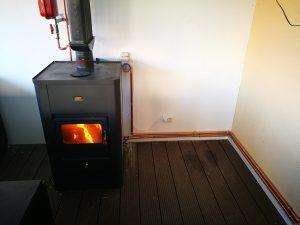 montaj centrala pe lemne